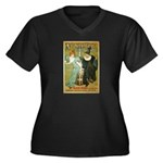 Parisian Absinthe Women's Plus Size V-Neck Dark T-