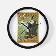 Parisian Absinthe Wall Clock