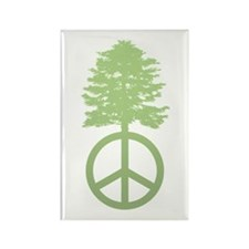 Peace Grows Rectangle Magnet