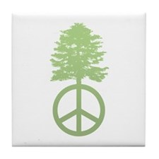 Peace Grows Tile Coaster
