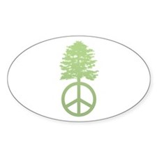 Peace Grows Oval Decal