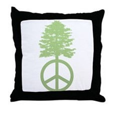 Peace Grows Throw Pillow