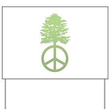 Peace Grows Yard Sign