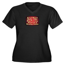Taste the rainbow Women's Plus Size V-Neck Dark T-Shirt