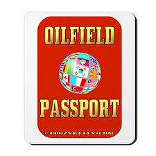 Oil Field Passport Mousepad,Expat Oilman,Oil