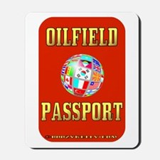 Oil Field Passport Mousepad,Expat Oilman,Oil