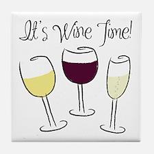 It's Wine Time Tile Coaster