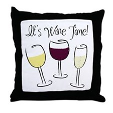 It's Wine Time Throw Pillow