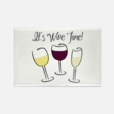 It's Wine Time Rectangle Magnet
