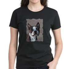 Boston Terrier Dog Art by SVC Tee
