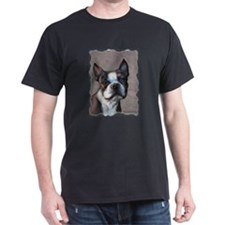 Boston Terrier Dog Art by SVC T-Shirt