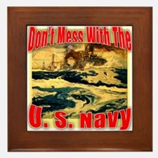 Don't Mess With the U.S. Navy Framed Tile