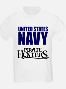Navy Pirate Hunters T-Shirt