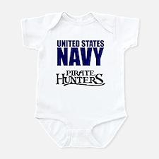Navy Pirate Hunters Infant Bodysuit