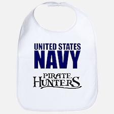 Navy Pirate Hunters Bib