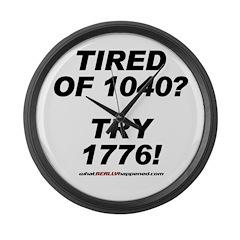 1040-1776 Large Wall Clock