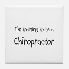 I'm training to be a Chiropractor Tile Coaster