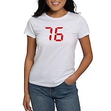 76 seventy-six red alarm cloc Tee