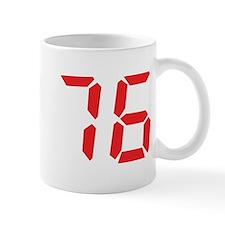 76 seventy-six red alarm cloc Mug