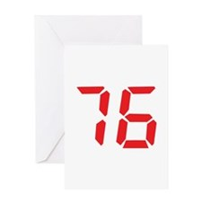 76 seventy-six red alarm cloc Greeting Card