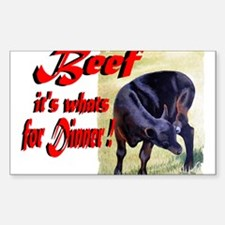 Beef it's whats for Dinner Rectangle Sticker 10 p