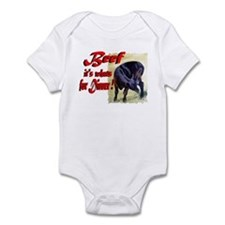 Beef it's whats for Dinner Infant Bodysuit