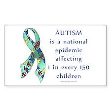 Autism Epidemic Rectangle Decal