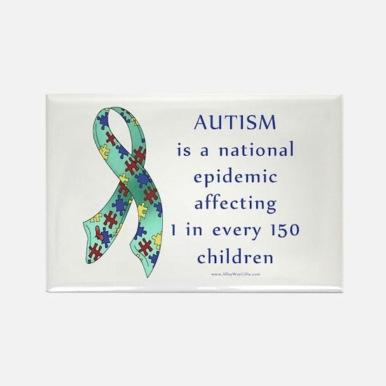 Autism Epidemic Rectangle Magnet