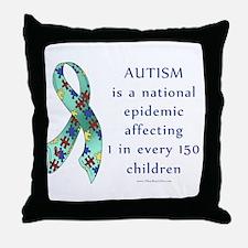 Autism Epidemic Throw Pillow