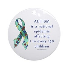 Autism Epidemic Ornament (Round)