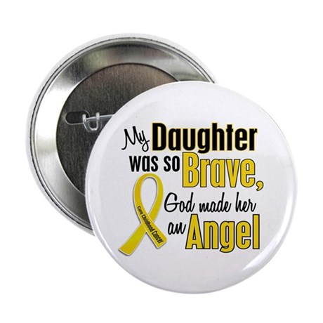 "Angel 1 DAUGHTER Child Cancer 2.25"" Button"