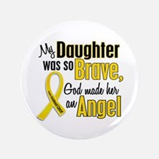 "Angel 1 DAUGHTER Child Cancer 3.5"" Button"