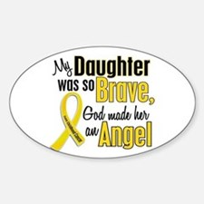 Angel 1 DAUGHTER Child Cancer Oval Decal