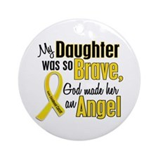 Angel 1 DAUGHTER Child Cancer Ornament (Round)