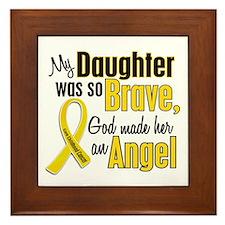 Angel 1 DAUGHTER Child Cancer Framed Tile