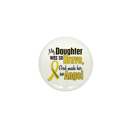 Angel 1 DAUGHTER Child Cancer Mini Button (10 pack