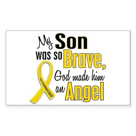 Angel 1 SON Child Cancer Rectangle Sticker
