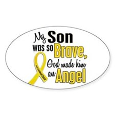Angel 1 SON Child Cancer Oval Decal