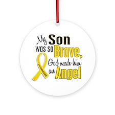Angel 1 SON Child Cancer Ornament (Round)
