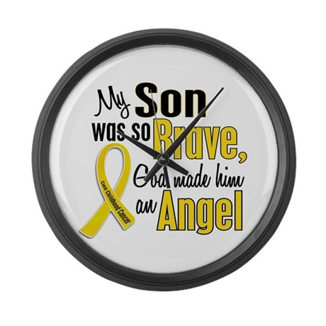 Angel 1 SON Child Cancer Large Wall Clock