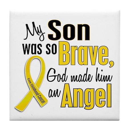 Angel 1 SON Child Cancer Tile Coaster