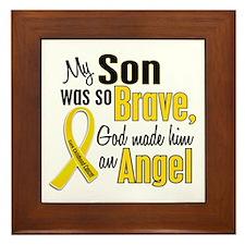 Angel 1 SON Child Cancer Framed Tile