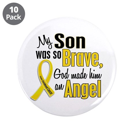 "Angel 1 SON Child Cancer 3.5"" Button (10 pack)"