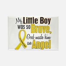 Angel 1 LITTLE BOY Child Cancer Rectangle Magnet