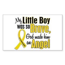 Angel 1 LITTLE BOY Child Cancer Decal