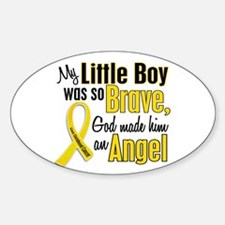 Angel 1 LITTLE BOY Child Cancer Oval Decal