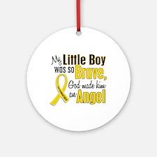 Angel 1 LITTLE BOY Child Cancer Ornament (Round)