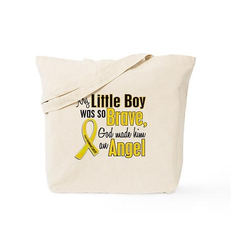 Angel 1 LITTLE BOY Child Cancer Tote Bag