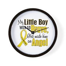Angel 1 LITTLE BOY Child Cancer Wall Clock