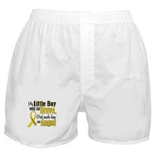 Angel 1 LITTLE BOY Child Cancer Boxer Shorts